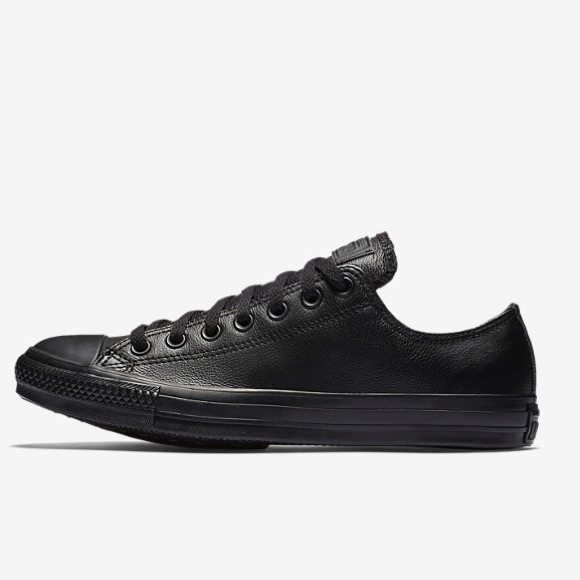 black leather converse womens size 8